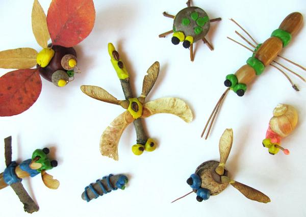 Поделки из природного материала для детей 5 лет