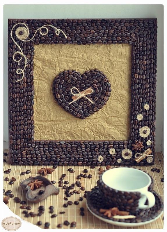 Картина из кофейных зёрен своими руками фото